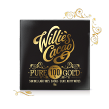 Willie's Cacao Pure Gold Sur Del Lago100% Dark Chocolate 65g